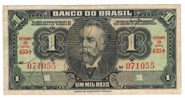 Brazil, 1 Mil Reis, VF .  Free Ship. To USA. - Brasil