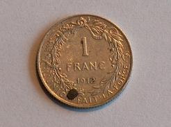 BELGIQUE 1 FRANC 1912 Argent Silver - 1909-1934: Albert I