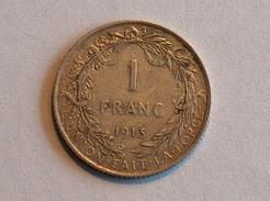 BELGIQUE 1 FRANC 1913 Argent Silver - 1909-1934: Albert I