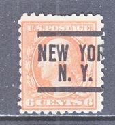U.S. 468   (o)  FLAT PRESS  NO Wmk. Perf 10  1916-17 Issue - United States