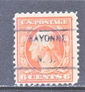 U.S. 506  (o)  FLAT PRESS  NO Wmk. Perf 11  1917-19 Issue - United States