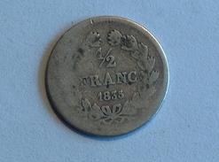 FRANCE 1/2 Franc 1835 A ???  - Silver, Argent Demi - G. 50 Centesimi