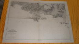 CARTE ANCIENNE SERVICE HYDROGRAPHIQUE DE LA MARINE PARIS 1911. EDITION DE 1949. / DU BEC DE L'AIGLE A LA PRESQU'ILE DE G - Cartes Marines