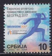 Serbia 2017 European Indoor Athletics Championships - Belgrade Surcharge, MNH (**) - Serbia