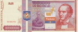Romania - 1 Million - Winchester Bank - Cigarettes Advertising Bill - 1998 - Promotion - Advertisement 215x90 Mm - Romania