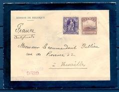 1902 , CUBA , CERTIFICADO DE LA HABANA A VERSAILLES , SOBRE DE LA EMBAJADA DE BÉLGICA , YV. 144 , 146 , LLEGADA - Cuba