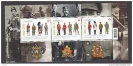 Canada, 2012, MNH, Militaria, Uniforme, Médailles, Medals, Médaille, Medal, Kilt, Médaille, Medal, Feuillet - 1952-.... Règne D'Elizabeth II