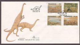 Transkei - 1993 - Fossils Dinosaurs Prehistoric Animals - Complete Set On FDC - Transkei