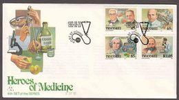 Transkei - 1993 - Heroes Of Medicine, Medical Pioneers - Complete Set On FDC - Transkei
