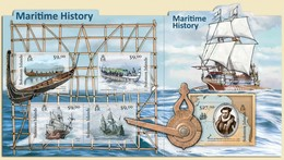 SOLOMON ISLANDS 2012 SHEET MARITIME HISTORY HISTOIRE MARITIME HISTORIA MARITIMA SHIPS BOATS BARCOS Slm12117c - Isole Salomone (1978-...)