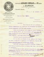 Suisse // Schweiz // Switzerland // Vieux Papiers // Document Assurance Pour La Vie à Zurich - Suisse
