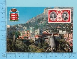 Blason, Crest - Monaco , Palais Du Prince,  - 2 Scans - Palais Princier