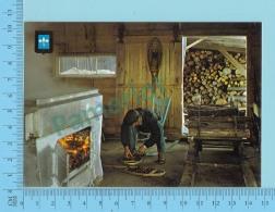 Blason Doré, Golden Crest - Magog Quebec, Interieur D'une Cabane A Sucre  - 2 Scans - Altri