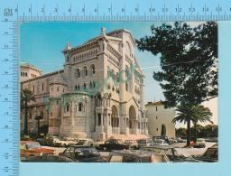 Monaco , La Cathédrale, Vieille Auto, Old Car - 2 Scans - Cathédrale Notre-Dame-Immaculée
