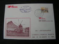 Portugal Flight Lisboa  1980 - Lettres & Documents