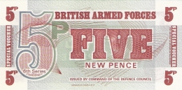 GRANDE-BRETAGNE   5 New Pence   ND (1972)   P. M 47   UNC - Forze Armate Britanniche & Docuementi Speciali