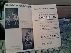 SUISSE LUCERNE KURSAAL CASINO LUZERN DANCING REVUE  1940 GB13533 - Suiza