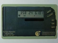 CARIBBEAN - General - GPT - GEN-CW1A - 1990 - Paging Service - 1CAWA - 197ex - Mint - RARE