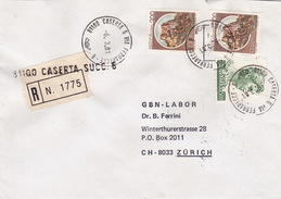 R-Brief 1981 Von Caserta Via Ferranecce Nach Zürich (br0097) - 6. 1946-.. Republic
