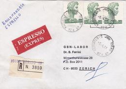 Eil-R.Brief 1981 Von Torino Piazza Mattirolo Nach Zürich (br0101) - 6. 1946-.. Republic