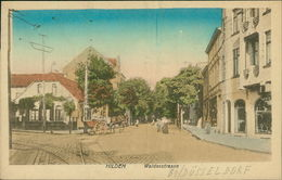 AK Hilden, Walderstrasse, Um 1914, Vertikaler Knick In Etwa Mittig (3819) - Hilden