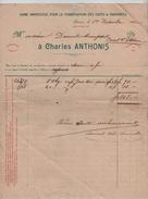 Factures Charles Anthonis Torréfaction Cafés, Chicorées Anvers En 1902-1913 PR4423 - 1900 – 1949