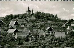 AK Warstein, Teilansicht, O 1959 Ortswerbestempel (3806) - Warstein