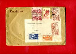 Par Avion AOF  7 Timbres  à Imprimerie Coueslant 1 Rue Des Capucins Cahors   Dossier Factures 2 - 1921-1960: Periodo Moderno