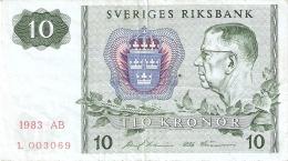 SUEDE   10 Kronor   1983   P. 52d - Sweden