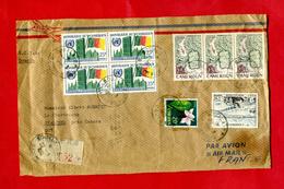 Par Avion Douala   9 Timbres Cameroun  à Schmitt Pradines Pres Cahors  Dossier Factures 2 - 1921-1960: Periodo Moderno