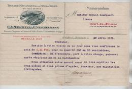 Facture Marchant-Stichelmans Tissage Mécanique à St.Gilles Lez Termonde En 1915 PR4424 - Bélgica