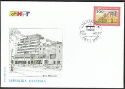 Croatia Zagreb 1992 / Beli Manastir / FDC - Architecture