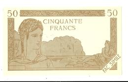 BILLET 50 FRANCS CINQUANTE SPECIMEN FAC SIMILE COLLECTION - Specimen