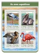 S.Tome&Principe. 2017 Water Birds. (118a)
