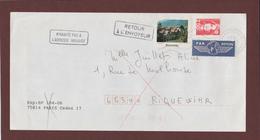 3 - 2720 De 1991 - Adresse Fantaisiste - M. JUILLET à RIQUEWIHR. 68 - Retour Cachet De RIQUEWIHR - Voir 2 Scannes - Variedades Y Curiosidades