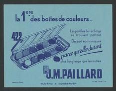 Buvard - J.M. PAILLARD - La Premiere Boite De Couleur - Boite 422 - Buvards, Protège-cahiers Illustrés