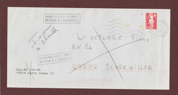 3 - 2720 De 1991 - Adresse Fantaisiste - M. OCTOBRE à SCHERWILLER. 67 - Retour Cachet De Scherwiller - Voir 2 Scannes - Variedades Y Curiosidades