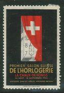 Suisse // Schweiz // Switzerland // Erinnophilie // Vignette Du Salon De L'horlogerie, La Chaux De Fonds - Erinnophilie