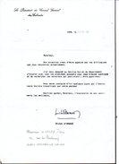 1985 Autographe / Correspondance Du Président Conseil Général Michel D'Ornano à Mr Girardy D'Hermanville Sur Mer 14 - Autografi
