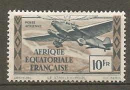 AEF -  Yv.  PA  N°  38  *  10f   Cote 1 Euro   BE R  2 Scans - A.E.F. (1936-1958)