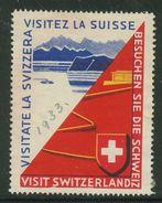 Suisse // Schweiz // Switzerland // Erinnophilie // Vignette , Visitez La Suisse (4 Langues) - Erinnophilie