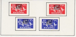 Europa Cept 1962 2v Perf+imp Printed  Reversed Unused (partly Sticked On Album Pages) (ALB202) - 1962