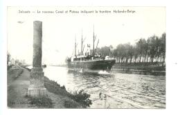 Selzaete - Le Nouveau Canal Et Poteau Indiquant La Frontière Hollande-Belge / STAR 1921 - Zelzate