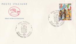 1990 ITALIA - 04  CENTENARIO 1° MAGGIO - FDC CAVALLINO - ANNULLO ROMA FILATELICO - 6. 1946-.. Repubblica