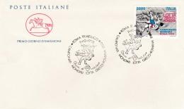 1990 ITALIA - 10 LOTTO GRECO ROMANA - FDC CAVALLINO - ANNULLO ROMA FILATELICO - 6. 1946-.. Repubblica