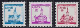 Croatia Republic Of Serbian Krajina 1997 Definitive - Architecture, Churches, MNH (**) Michel 78-80 - Croatie