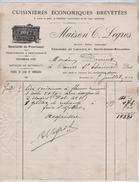 Facture Maison C.Legros Cuisinères écoomiques Brevetées Chaussée De Louvain St-Josse BXL En 1911 PR4426 - Belgique