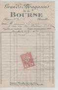 Facture Grands Magasins De La Bourse Bruxelles En 1922 PR4427 - Belgium
