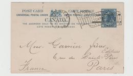 C-V004 / KANADA -  Montreal Flaggenstempel 1898cnach Paris - 1860-1899 Regering Van Victoria
