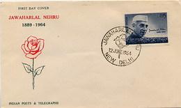 INDIA - FDC 1964 -  NEW DELHI - JAWAHARLAL NEHRU - FDC